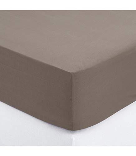 DRAP HOUSSE-ATMOSPHERA 140 X 190 - TAUPE