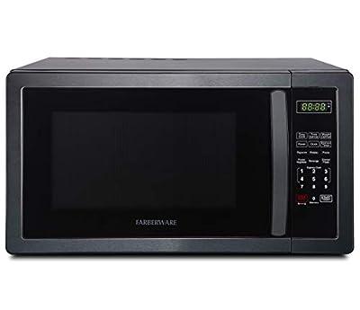 Farberware Classic FMO11AHTBSB 1.1 Cu. Ft. 1000-Watt Microwave Oven, Black Stainless Steel (Renewed)