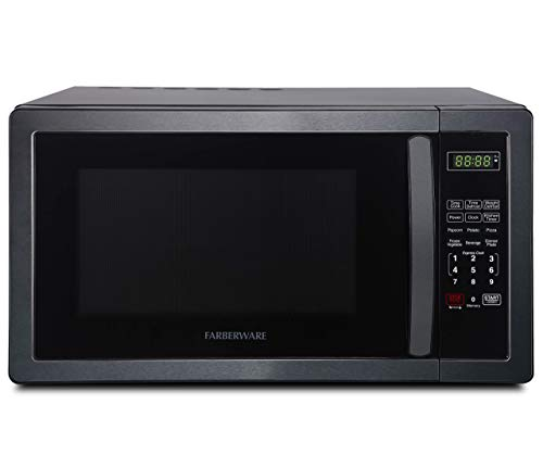 Farberware Classic FMO11AHTBSB 1.1 Cu. Ft. 1000-Watt Microwave Oven, Black Stainless Steel (Renewed)
