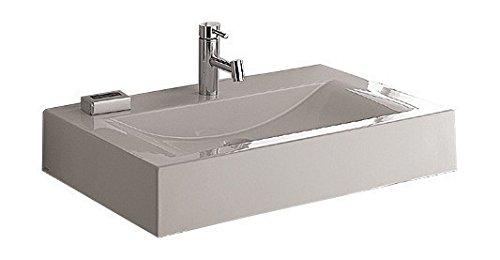 'aquaSu® Waschtisch Plan | 75 cm | Weiß | Waschbecken