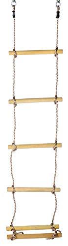 Gartenpirat Escalera de Cuerda niños, peldaños Madera, 220 cm
