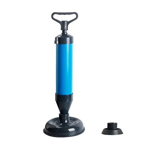 WGH Air pump cleaner with two head suction cups for the toilet, sink, shower, bath, piston high-pressure blaster drain