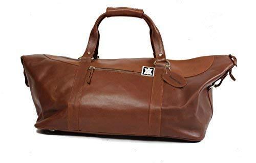 Week-end sac bagages à main en cuir véritable marron Personnalisation GRATUITE sport