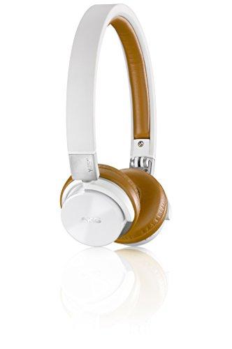 AKG Y45BT Wireless Bluetooth NFC Aufladbarer Mini Stereo On-Ear Kopfhörer mit Abnehmbarem Audiokabel und Integrierter Lautstärkeregelung/Mikrofon Kompatibel mit Apple iOS und Android Geräten - Weiß
