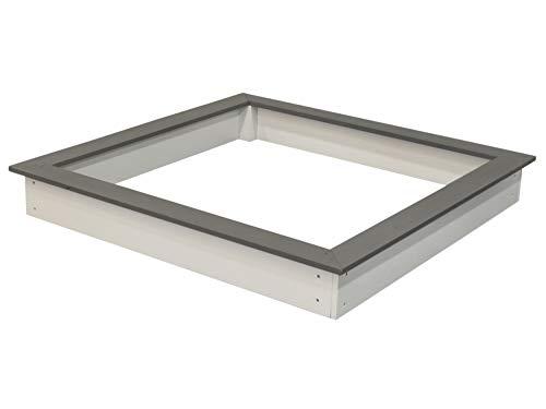 Axi House C052.001.00 zandbak, grijs/blanco, 127 x 127 x 17 cm