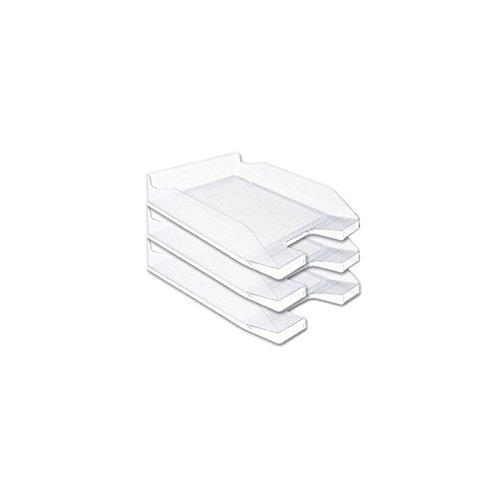 Bandeja sobremesa plastico q-connect transparente