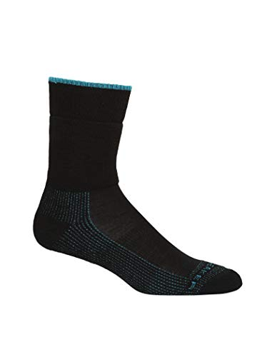 icebreaker Damen Hike M Crew Merino Socks Wandersocken, Black, M