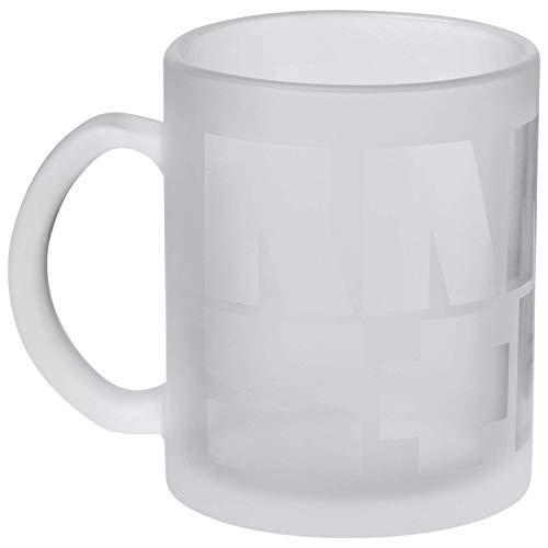 """Rammstein Glas Tasse """"Schriftzug"""" *satiniert*, Offizielles Band Merchandise"""