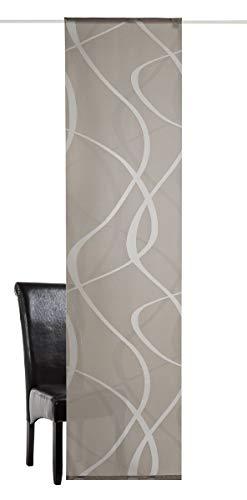 Deko Trends Wave 8499 01 078 - Tenda a Pannello con Carrello in Alluminio e Asta, Colore: Grigio