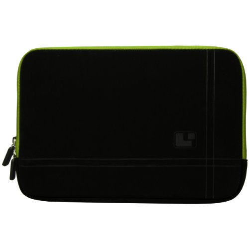 Barnes and Noble Nook HD Plus 9 Black with Green Edge Microsuede Lighweight Carrying Sleeve