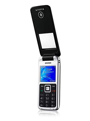 Brondi Window 1.77inch 78g zwart Functie-telefoon - mobiele telefoons (klapbaar, dual SIM, 4,5 cm (1.77 inch), 1,3 MP, 600 mAh, zwart)
