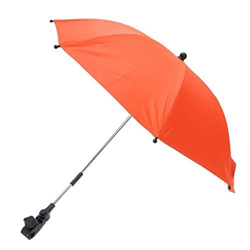 Lurrose Sonnenschirm für Kinderwagen, universell verstellbar, Regenschirm, Kinderwagen, Rollstuhl, Fahrrad, zufällige Farbe