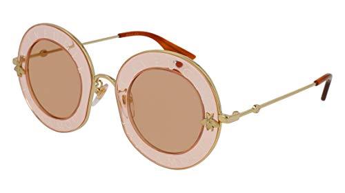 Gucci GG0113S 004 Gafas de sol, Naranja (Orange/Orange), 44 para Mujer