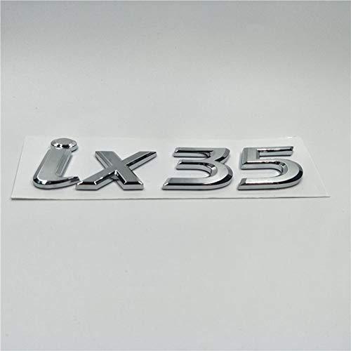 WQSNUB Auto Kofferraum Brief Aufkleber, Für Hyundai Tucson ix35 4wd Auto Heck Heck Kofferraum Emblem ABS Chrom Abzeichen Brief Logo Aufkleber