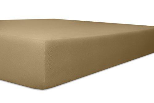 Kneer Superior-Stretch 2N1 Q98 Wende-Spannbetttuch extra hoch 180x200 bis 200x220 cm Toffee