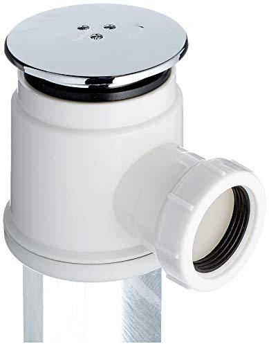 Mix Group, bonde de douche chromée à haut débit qui permet à l'eau de s'écouler du bac à douche à un taux de 25 Litres par minute, 50 mm