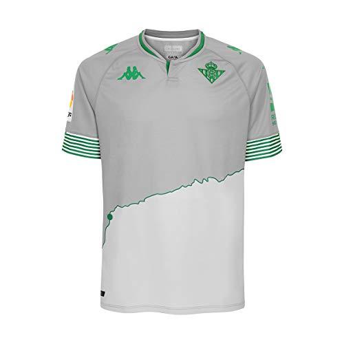 Kappa Tercera equipación Real Betis, Camiseta, Hombre, Gris/Verde, M