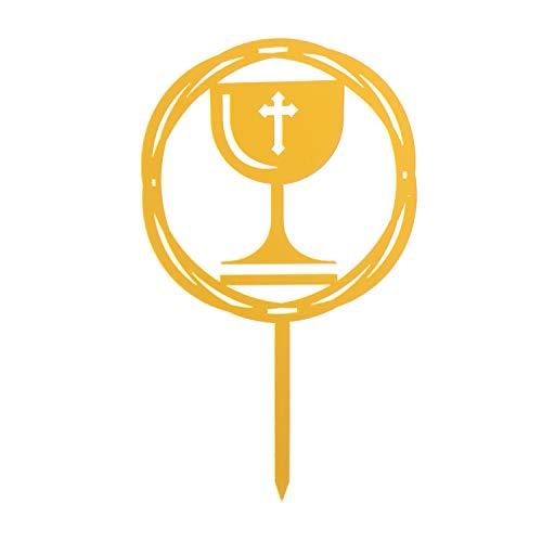 Dekora - Topper de Tartas para Comuniones Color Dorado