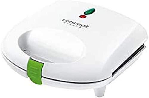 CONCEPT Hausgeräte sv3020 Sandwich-Toaster mit dreieckigen Platten, 700 W, weiß, Plastik