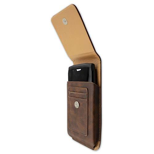 caseroxx Handy Tasche Outdoor Tasche für Crosscall Trekker-X4, mit drehbarem Gürtelclip in braun