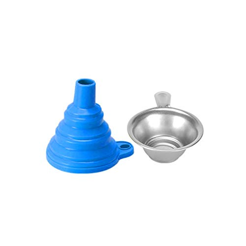 fawox Uv Resin Filter Cup+Silicon Funnel Disposable For Anycubic Photon 3D Printer Blue
