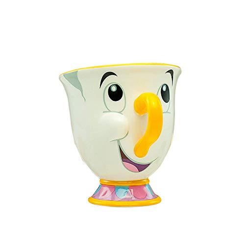 GD-BLB Die Schöne und das Biest - Tasse, Kaffeetasse, Champagner, Teetasse, Weinglas, Markley?Weiß, Bedruckt, aus Porzellan, Fassungsvermögen ca. 225 ml.