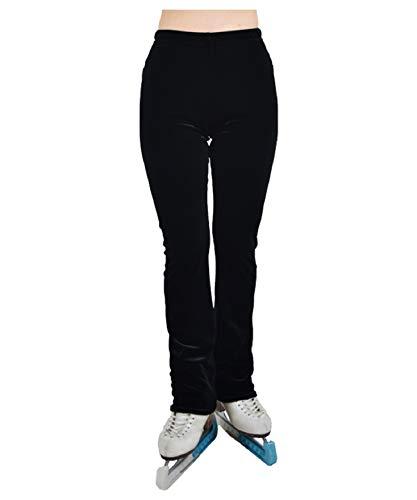 マリーナアイス(Marina Ice) スケートフレアパンツ ベロア M ブラック