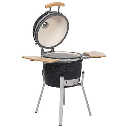 vidaXL Barbecue Kamado in Ceramica Affumicatore 76cm Griglia Grill da Giardino