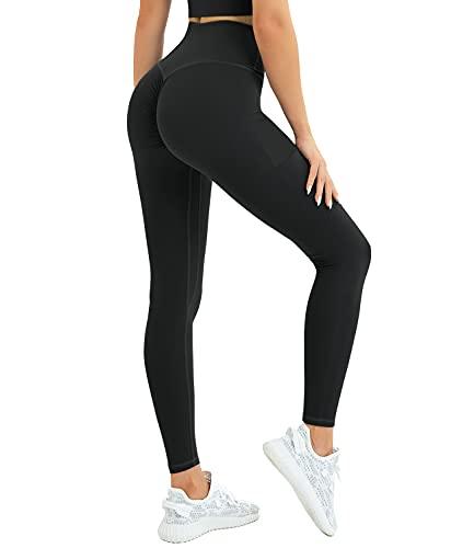 DUROFIT Mallas Deportivas Opacas Scrunch Butt Pantalones Deportivos de Cintura Alta Bolsillo para Correr Butt Push Up Leggins Deportivos para Entrenamiento de Yoga Gimnasio Fitness