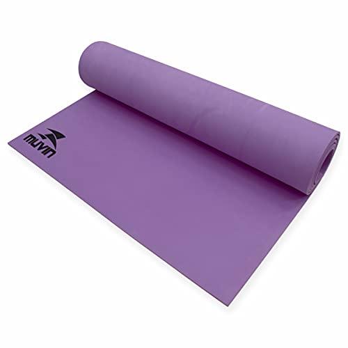 Tapete Para Yoga em EVA Muvin Basics - Tamanho 180cm x 60cm x 0,5cm - Indicado Para Iniciantes - Colchonete Pilates, Yoga, Ginástica e Academia