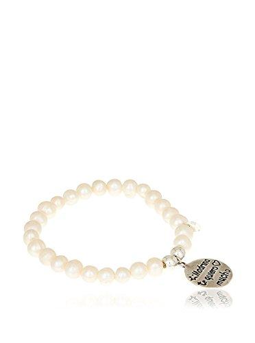 Córdoba Jewels | Pulsera en Plata de Ley 925 con diseño Madrina Te Quiero Mucho Perla