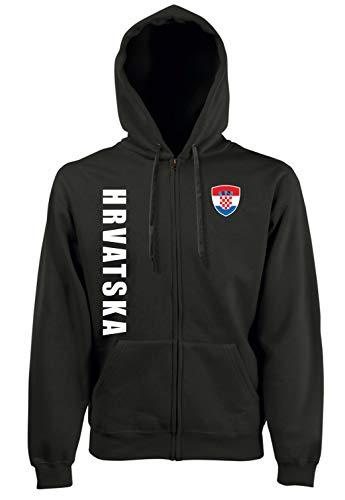 Aprom-Sports Kroatien ZIP Hoodie Jacke -Kapuzen Sweat Sport Trikot SC Look (XXL)