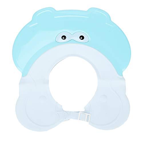 Lekvrije baby badkamer douchekap Safe shampoo douche badbescherming zachte verstelbare hoed vizier hoed douche geschenk voor baby kleine kinderen blauw