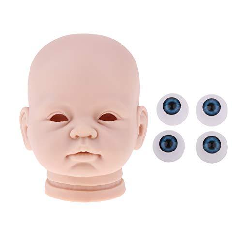 non-brand 22 Pulgadas Sin Pintar Reborn Head Moldes y Baby Doll Globos Oculares 20mm Fabricación de Suministros