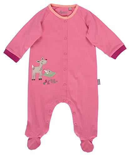 SIGIKID Baby - Mädchen und Jungen Overall, Schlaf-Strampler mit buntem Alloverprint aus Bio-Baumwolle, Größe 056 - 080