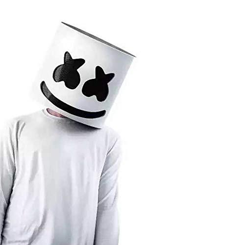 wwzEITpV 1PC DJ Mask Marshmallow Mask Music Festival Helmets Halloween Cosplay Full Helmet Bar Music Props Party Props Costume Masks