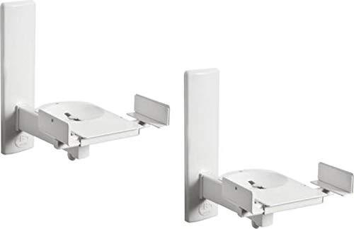B-Tech - BT77 - Ultragrip ProTM Wandhalterung für Lautsprecher, neig- und schwenkbar, Weiß (Paar)