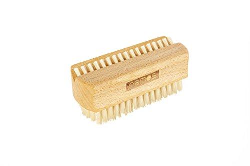 REMOS Brosse à main et ongles en bois de hêtre avec fibres naturelles