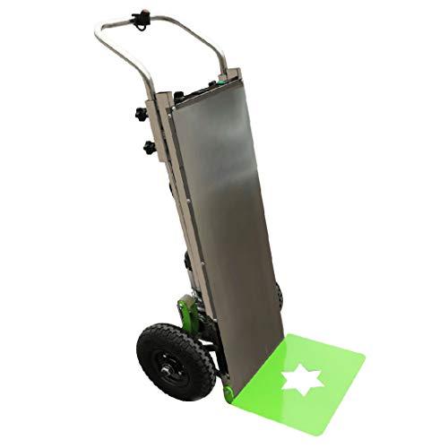 XH-Tool Carro para Subir escaleras Carro portátil y eléctrico para Subir escaleras, Carretilla Plegable Plegable de Servicio Pesado, Motor silencioso - Elevador eléctrico - Batería de Litio 18650