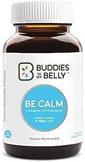 Be Calm Calming Probiotic Supplement For Gut Health - 15 Billion CFUs To Help Improve Mood, GI Discomfort, Sleep - Vegan & Non-GMO Formula, Strain-Specific Blend For Max Efficiency - Probiotic Capsule