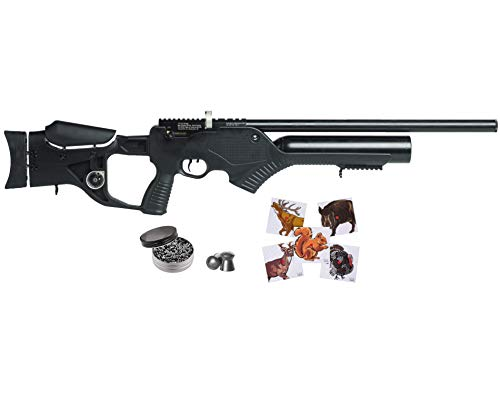 Wearable4U Hatsan Barrage Semi Auto PCP .177 Cal Air Rifle with Included 100x Paper Targets and 500x .177cal Pellets Bundle