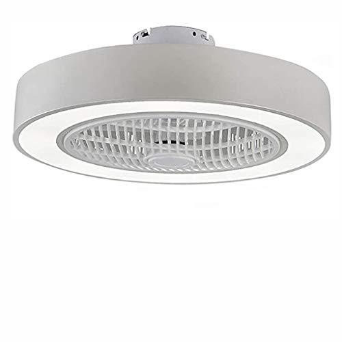 Ventilador Con Iluminación LED Ventilador De Techo Luz, Regulable Con Mando Distancia, Velocidad Del Viento Ajustable, 72W Creativo Moderno Ultra Silencioso Habitación Sala Ventilador Lámpara,Blanco