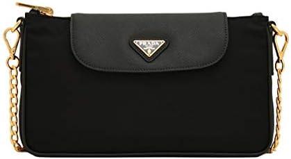 Prada Women s Black Tessuto Saffian Nylon Crossbody 1BH085 product image