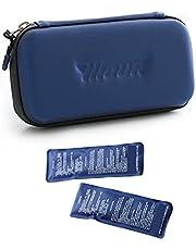 GYAM Bolsa Fría de Insulina, Estuche Portátil de Viaje Médico con 2 Bolsas de Hielo, hasta 12 Horas de Conservación en Frío, para Insulina y Otros Medicamentos,Azul