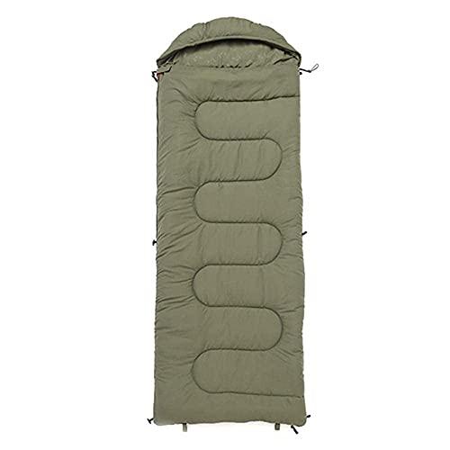 FLZXSQC Saco de dormir de algodón para acampar, saco de dormir para estación, cálido, con capucha, para viajar, senderismo