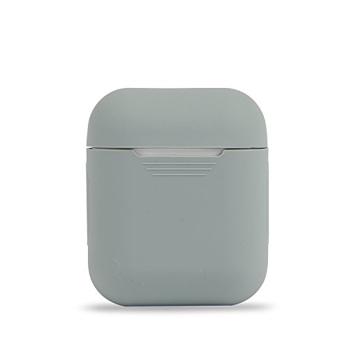 AirPods fodral   skyddande silikonfodral för Apple AirPods   Skyddsfodral mot damm, repor och fall   Fodral skydd hud fodral Apple AirPods tillbehör (GRAU)