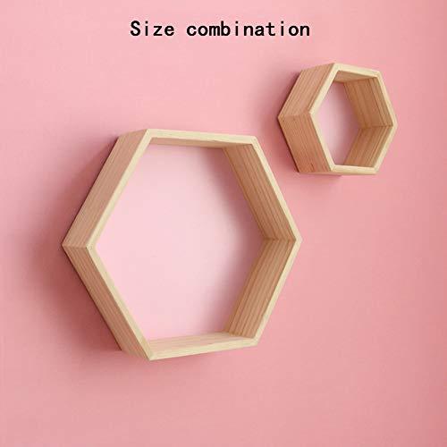 Cestbon Set Von 2 Haus Form Wand Speicher Regal Hölzerne Anzeigen Hängende Regal Kinderraum Dekoration,Rosa