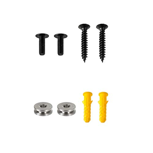 Sound bar Wall Mount Hardware Kit for Samsung HW-K450 HW-M360 HW-K550 HW-K650 HW-K430 HW-N950 HW-MS750 HW-MS751 HW-MS650 HWMS650, Screws + Metal Hug Rings + Wall Anchors, Wall Bracket Accessories