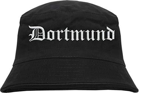 HB_Druck Dortmund Fischerhut - Bucket Hat - Bestickt - Schwarz L/XL