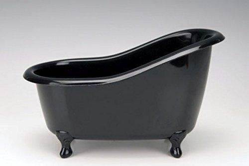 Accentra Deko Badewanne Kunststoff schwarz zum Befüllen 26x13,7x15,5cm